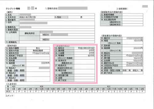 CICの信用情報に関する報告書の画像