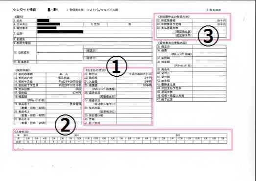 信用情報開示報告書の全体像