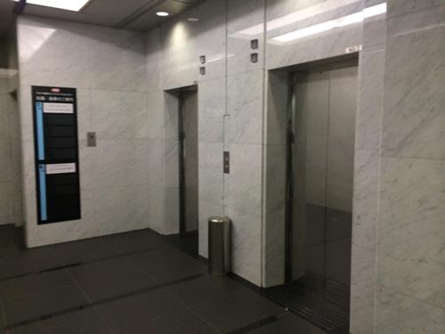 エレベーターはこんな感じ。